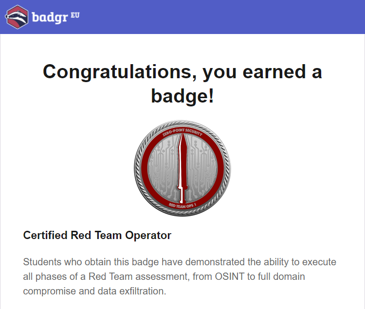Certified Red Team Operator Crto Course Review