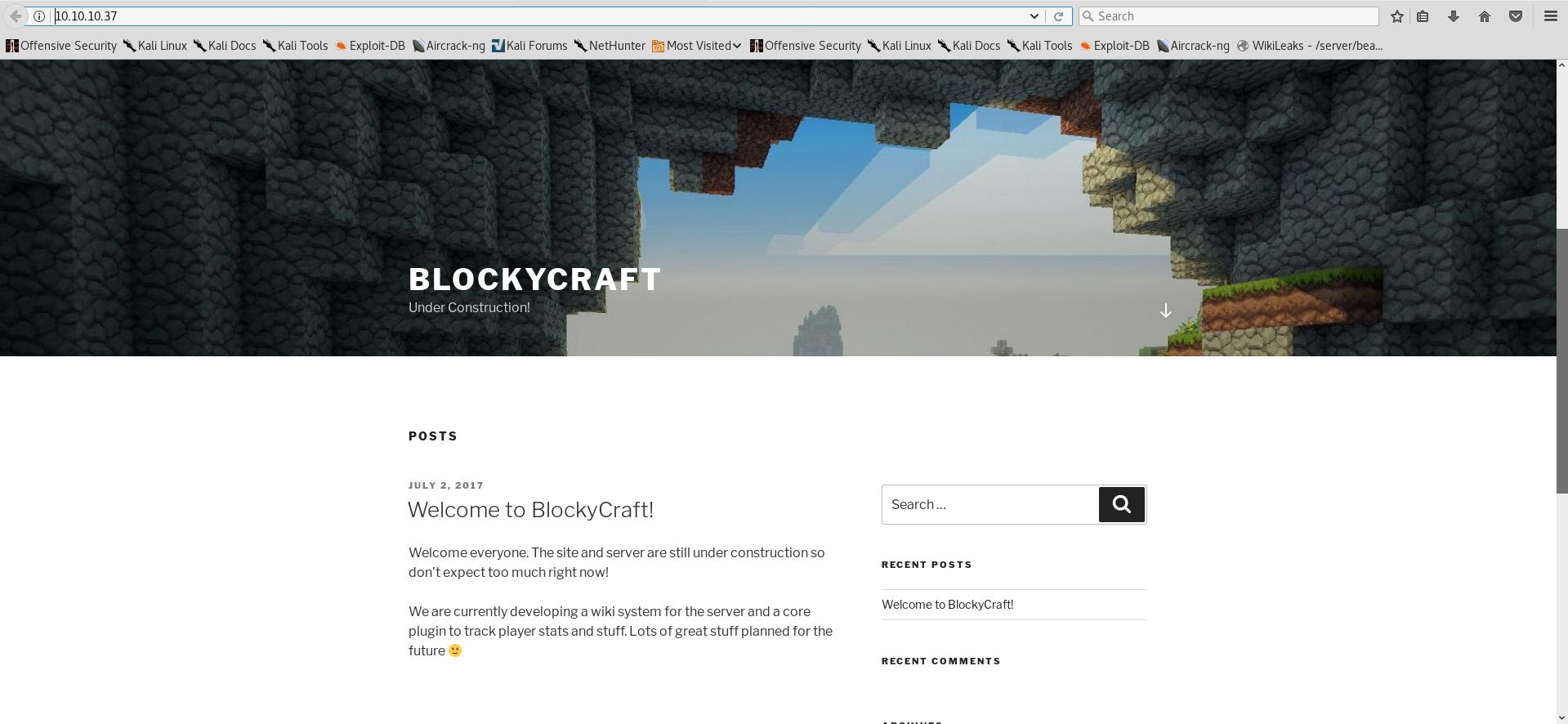 HackTheBox - Blocky writeup